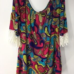 Half Sleeve paisley tunic top